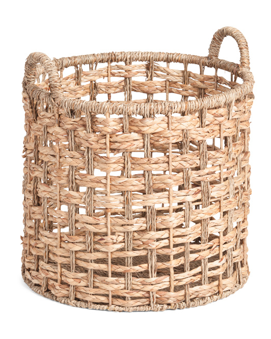Large Round Seagrass Braid Basket