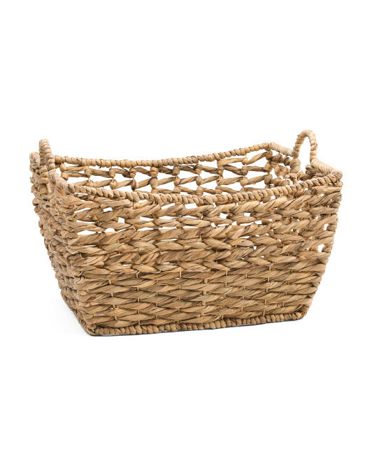 Large Natural Twist Flower Basket With Handles