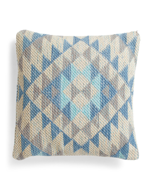 18x18 Aztec Cotton Jacquard Pillow