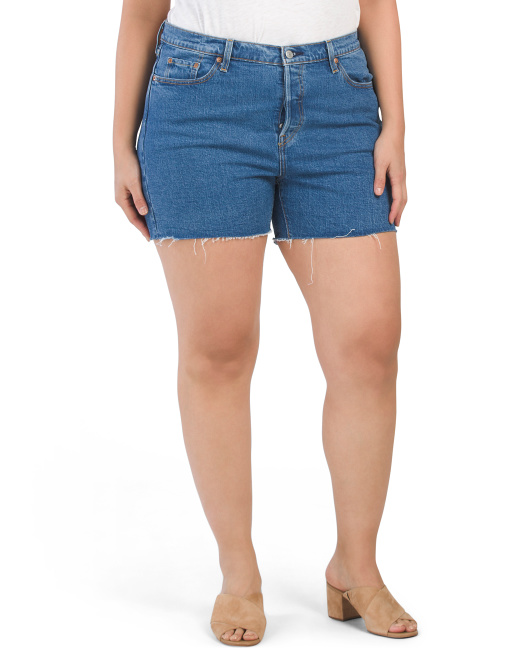 Plus 501 Original  Jive Stonewash Shorts