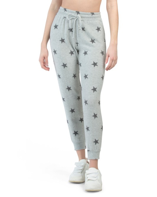 Brushed Hacci Cozy Star Print Joggers