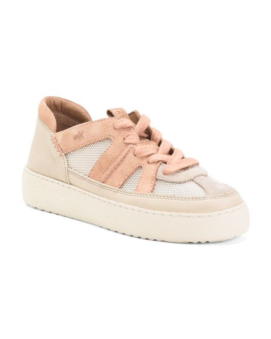 Webster Overlay Low Lace Leather Sneakers