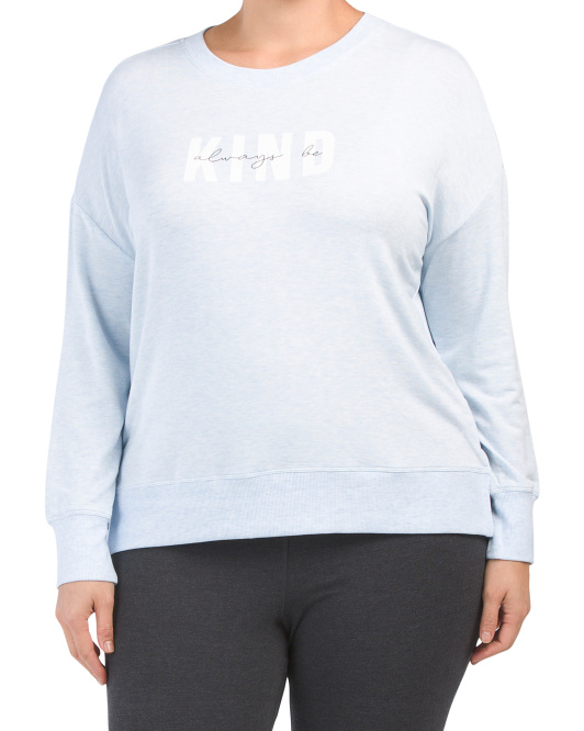 Plus Always Be Kind Crew Neck Top