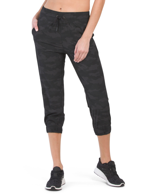 Stretch Woven Capri With Back Pockets
