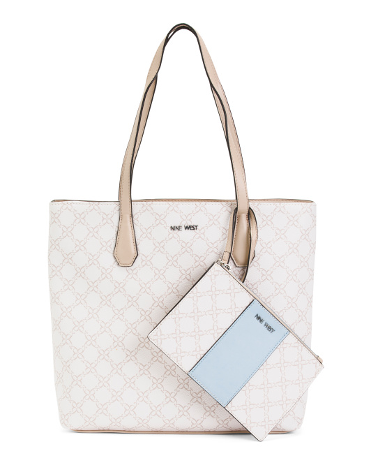 Tall Tote With Card Case And Wristlet