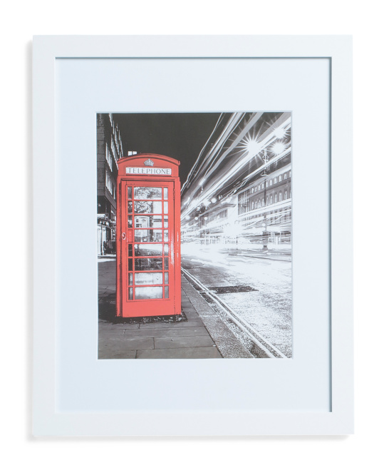 11x14 English Phone Booth
