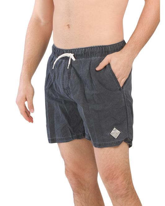Solid Biowash Volley Shorts
