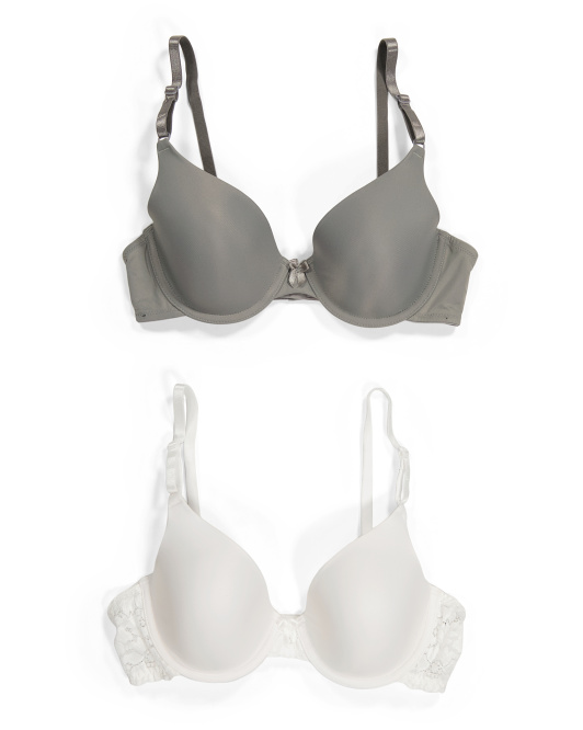 2pk Demi Coverage Lightly Lined Bras