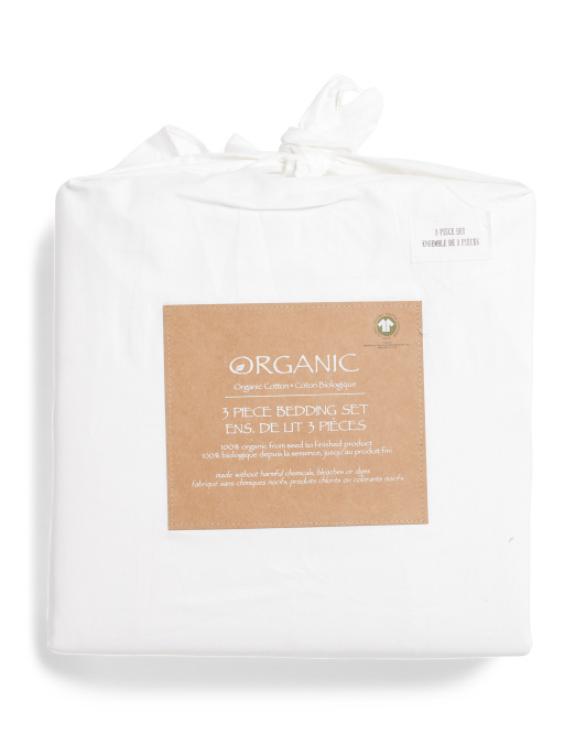 Organic Cotton Duvet And Fitted Sheet Set