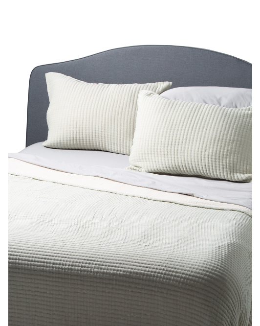 Ribs Heavy Coverlet Set
