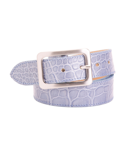Made In Italy Croco  Leather Belt