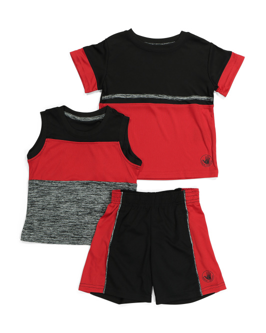 Little Boy 3pc Active Short Set