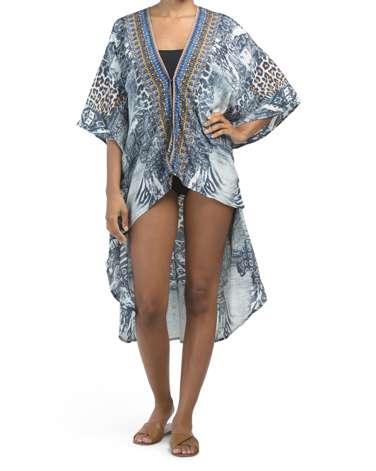 Luxe Animal Beach Cover-up