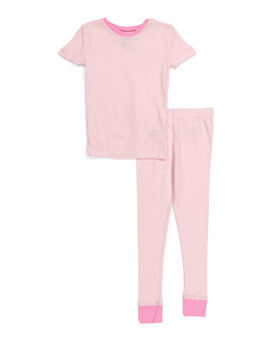 Girls Snug Fit Cotton Sleep Set