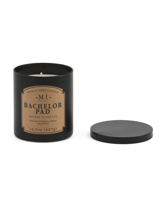 Made In Usa 16.5oz  Bachelor Pad Candle