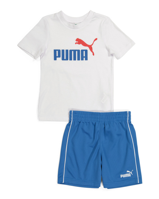Little Boy 2pc Tee And Shorts Active Set