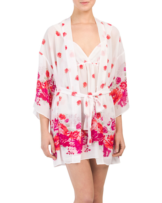 Garden Party Chemise And Robe Collection