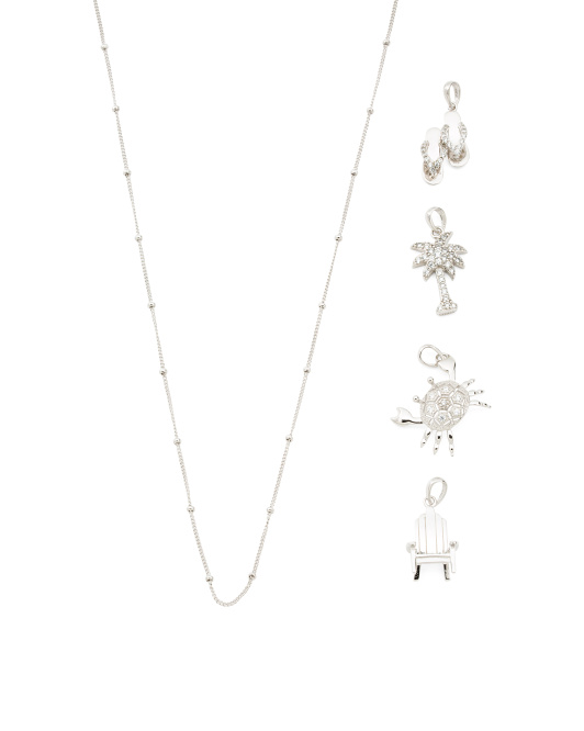 Sterling Silver Summer Build Your Own Charm Necklace