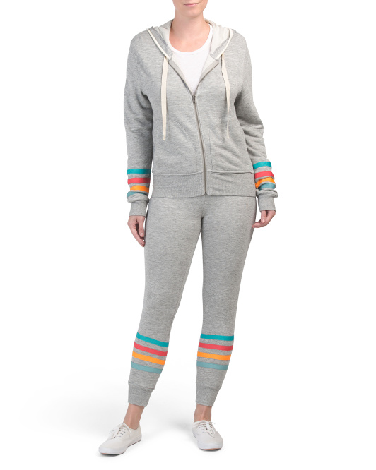 Rainbow Stripe Hoodie And Jogger Collection