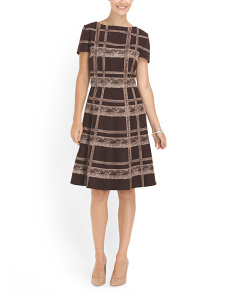 image of Short Sleeve Plaid Dress