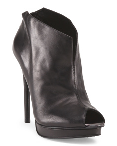 image of Leather Platform Bootie