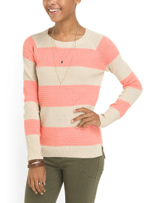 image of Juniors Cotton Blend Pullover Sweater