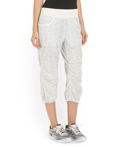 image of Printed Stretch Woven Pant