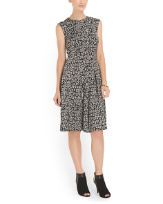image of Jacquard Fit And Flare Dress
