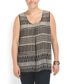 image of Plus Size Tribal Tank