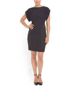 image of Dolman Sleeve Sheath Dress