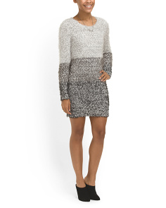 image of Juniors Ombre Sweater Dress