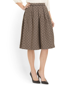 image of Patterned A Line Skirt