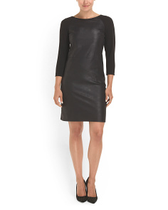 image of Foil Front French Terry Dress