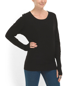 image of Cotton Blend Pullover Sweater