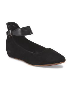 image of Leather Ankle Strap Flat