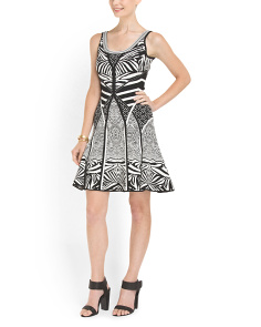 image of Fanny Printed Knit Dress
