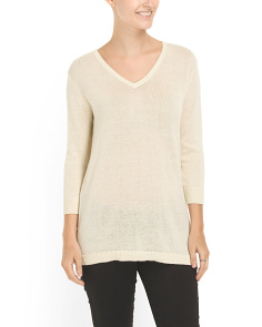 image of Cotton Back Button Sweater