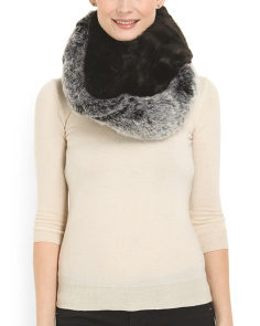 image of Two Color Faux Fox Scarf