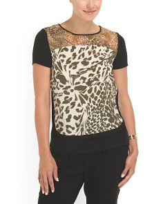 image of Silk Becky Printed Cdc Blouse