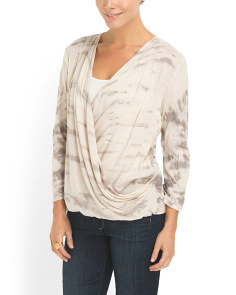 image of Printed Surplice Top