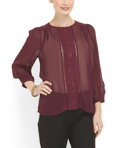 image of Lace Inset Top