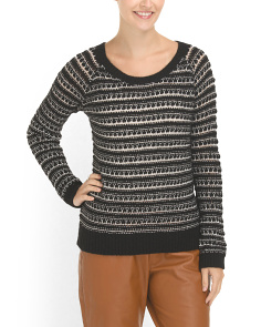 image of Open Knit Sweater