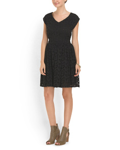 image of Fit & Flare Lace Dress