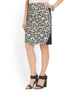 image of Animal Print Pencil Skirt