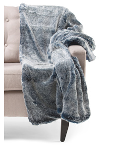 image of Frosted Faux Fur Throw