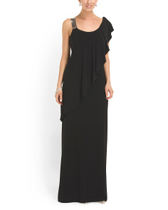 image of Cascade One Shoulder Gown