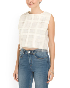 image of Silk Renny Cropped Blouse