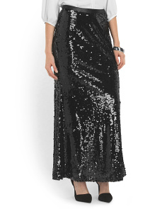 image of Sequin Maxi Skirt
