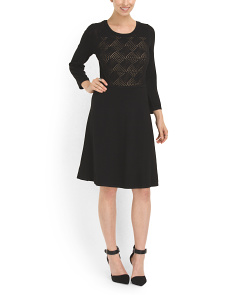 image of Pointelle Fit And Flare Dress