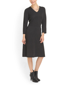 image of Fit And Flare Sweater Dress